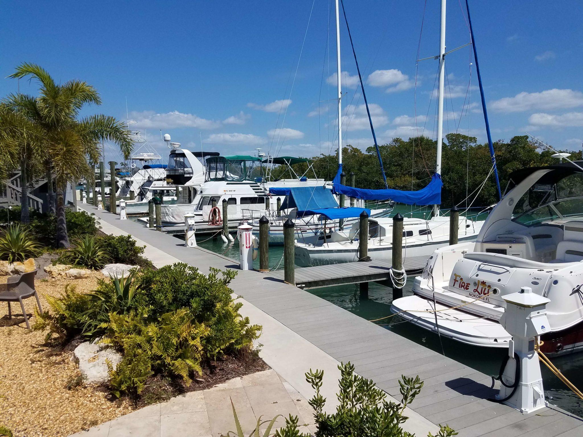 Venice FL Marina - Dock Slip Rentals | Escape Casey Key Resort