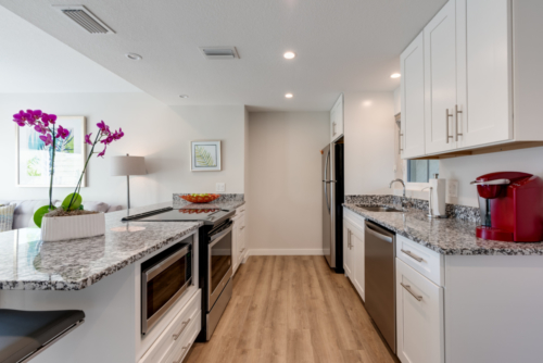 Beachfront rental Amenities - modern kitchen