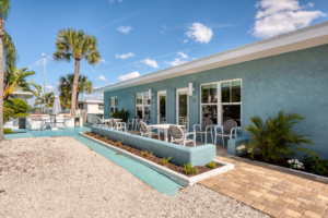 Nokomis lodging rooms with outdoor patios