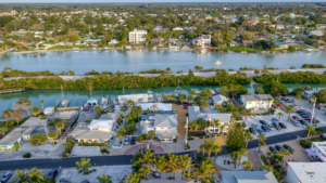 Marina overhead view from Escape casey Key