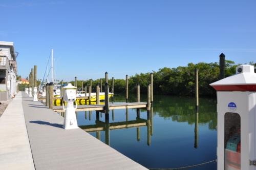 Resort Marina Dock Slips in Siesta Key